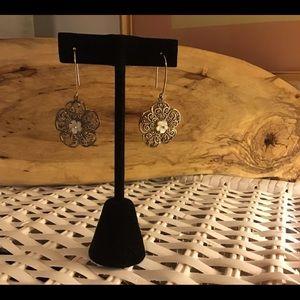 Jewelry - Flower drop earrings 925 SS